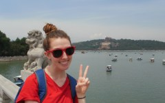 BYU student Kaitlin Fayles visits the Summer Palace in Beijing while doing her study abroad in China. International study abroads are on the rise as more United States students are participating in them. (Photo by Kaitlin Fayles.)