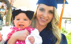 Madison Berbert with her baby girl at the time of her graduation in April of 2013. (Madison Berbert)