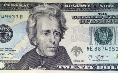 A likeness of Andrew Jackson, seventh President of the United States, adorns the front of $20 bill Friday, April 17, 2015, in Boston. Sen. Jeanne Shaheen, D-NH, filed legislation Tuesday to create a citizens panel to recommend an appropriate woman candidate to be put on the bill. (Bill Sikes)