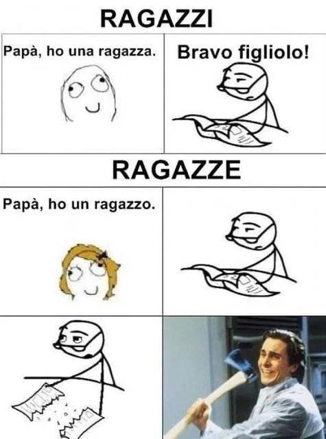 vignetta padri figlie
