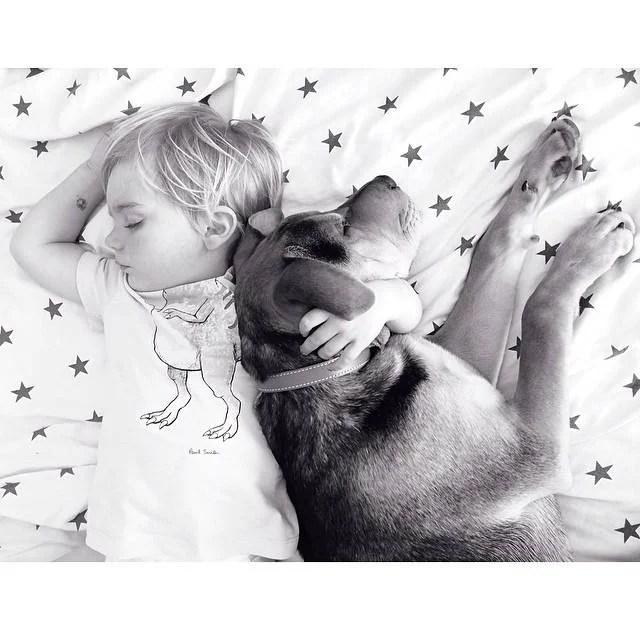 beau e theo dormono