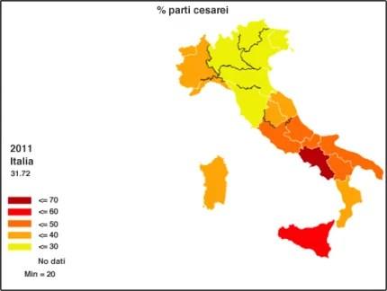 età donne partorienti italia