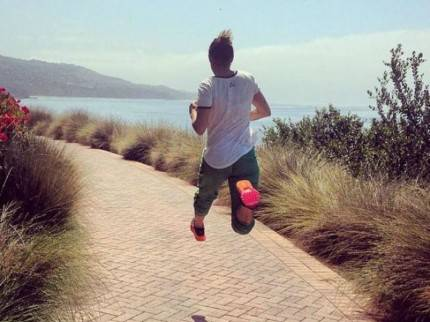 elisabetta canalis jogging