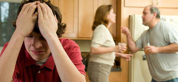genitori litigano