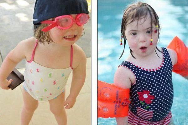 Natty in pubblicità costumi da mare