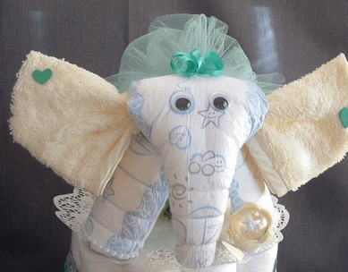 elefante di pannolini