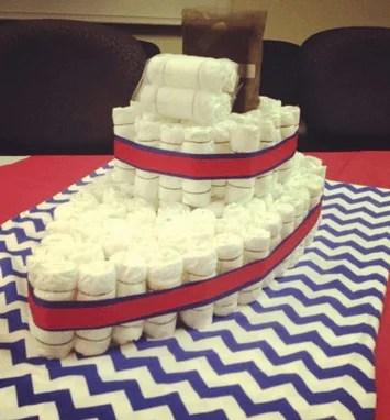 nave di pannolini