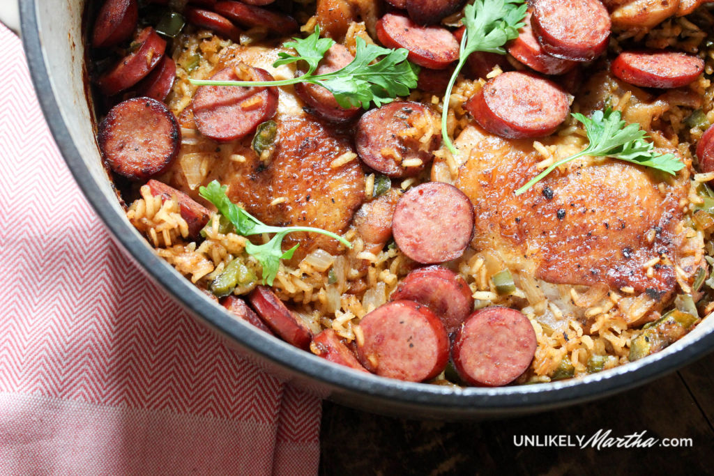 One Pot Meal | Chicken + Turkey Sausage Dirty Rice