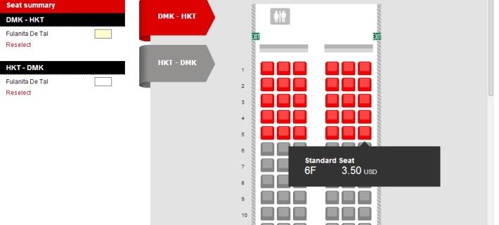 Elegir asientos Air Asia