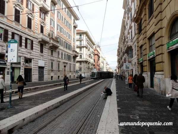 Tranvía en Roma