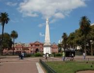 Casa Rosada vista desde Plaza de Mayo