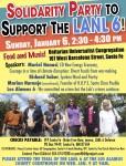 LANL 6 solidarity party flyer