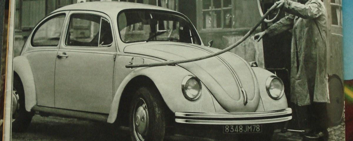 coccinelle volkswagen PAris Match 1974