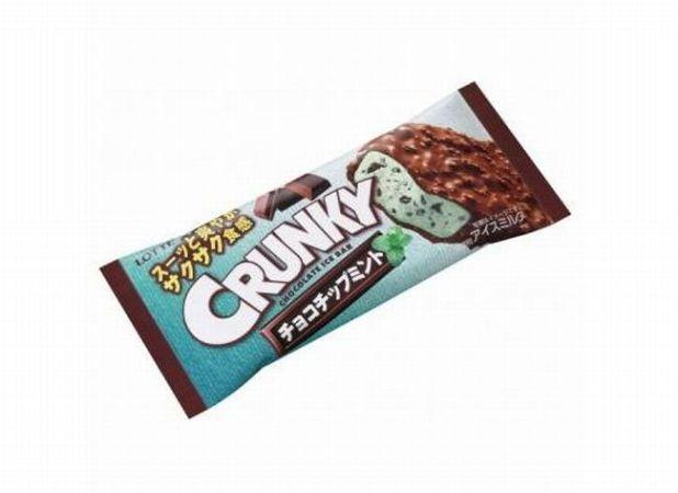 クランキーアイスバー「チョコチップミント」カロリーは?味の感想&2011年版との比較は?