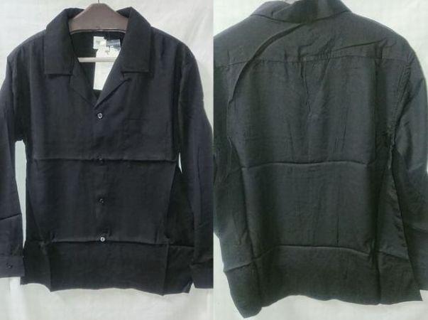 WEGOテンセルオープンカラーシャツ(黒)のオススメコーデは?購入レビュー