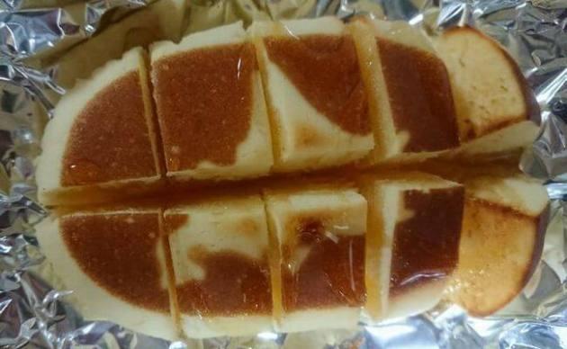 北海道チーズ蒸しケーキをアレンジ!トースターで焼いてみた!