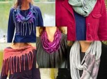 DIY t-shirt scarves
