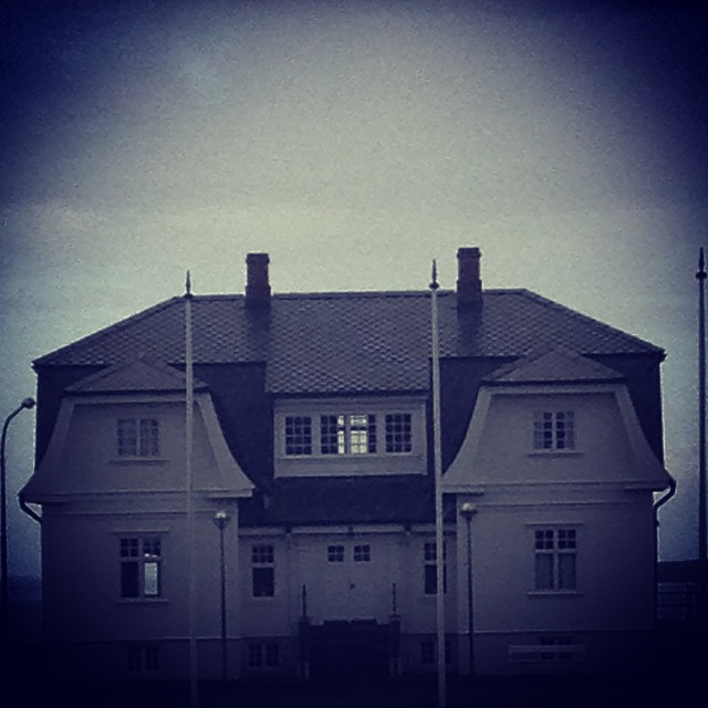 Höfði house. Haunted by a lady ghost, according to local legend.