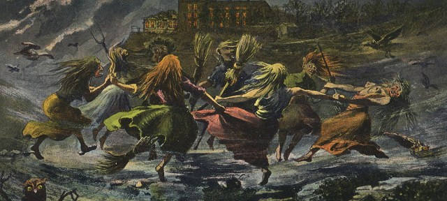 A gathering of witches on Walpurgisnacht
