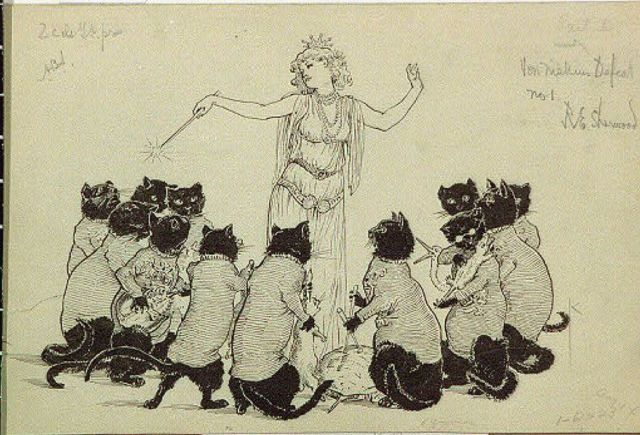 """Her majesty led this strange orchestra"" by Rosina Emmet Sherwood"