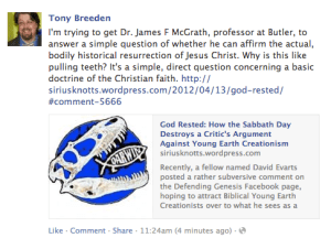 Oh Tony, you keep using that word…, or, in favor of St. James of the McGraths