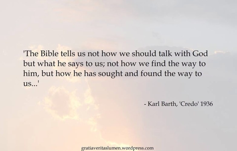Quote of the day... Barth and the essentials