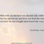 Quote of the day… Barth and the essentials