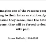 Another quote.. James Baldwin on hate and pain
