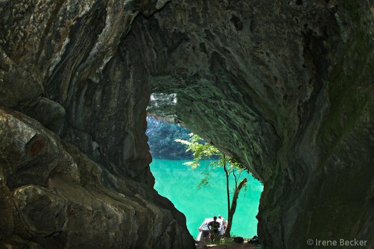 Drina Canyon's cave