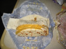 Behold! The Cheesy Gordita Crunch...and partner.