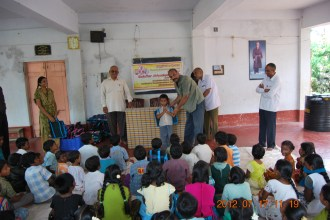 Children were given School bags etc.