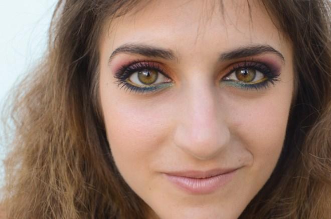 Rainbow eye makeup tutorial - gloss