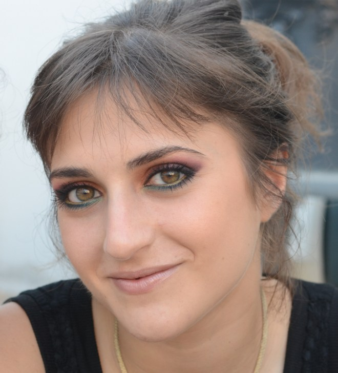 rainbow eye makeup tutorial - finish