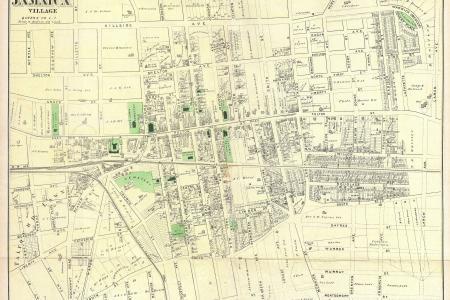 1873 s map of jamaica village, queens, new york city geographicus jamaicavillage s 1873