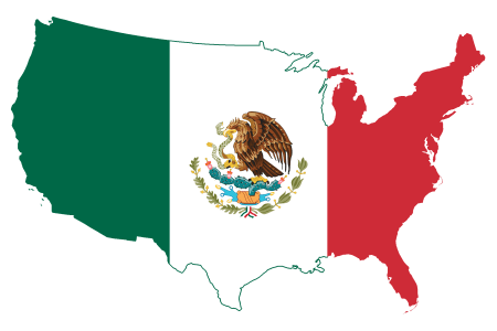 file flag map of the united states (mexico)