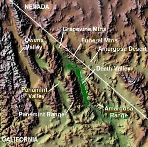 The Amargosa Desert is near Death Valley