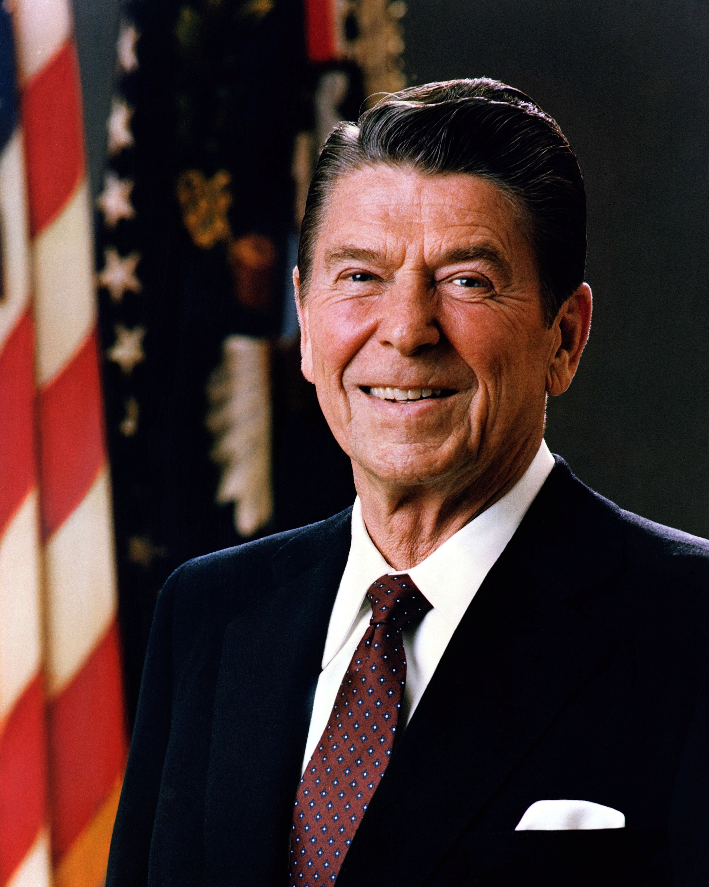 Ronald Reagan   Wikipedia Official Portrait of President Reagan 1981 jpg