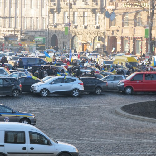 An Automaidan Rally in Ukraine