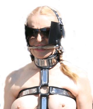 milf wearing bondage harness