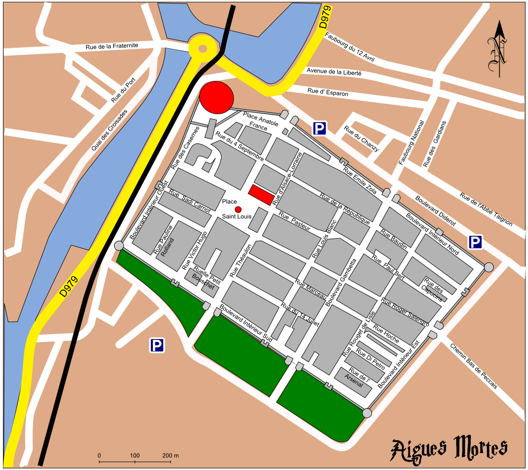 map of aigues