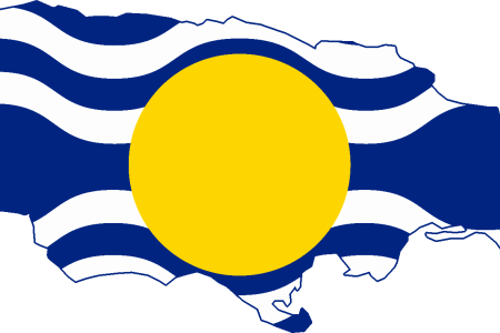 flag map of jamaica (west indies federation)