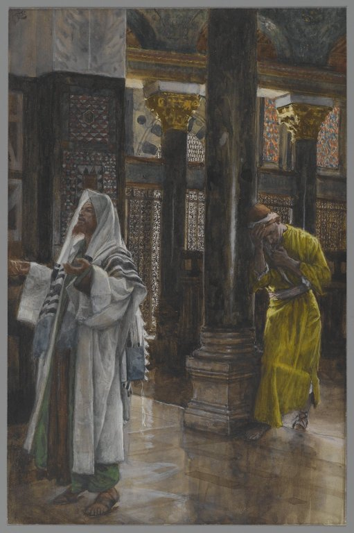 The Pharisee and the Publican. James Tissot [Public domain], via Wikimedia Commons