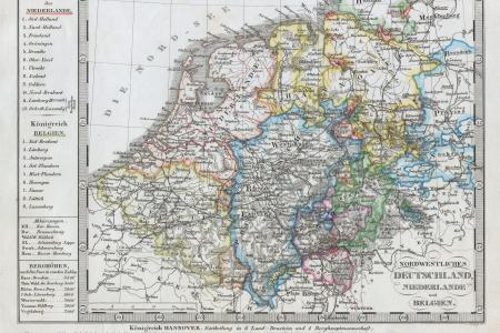 1862 stieler map of holland2c belgium and western germany geographicus deutniederlande perthes 1862