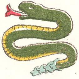 The Aztec day sign coatl (snake).