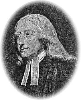 Stripped image of John Wesley