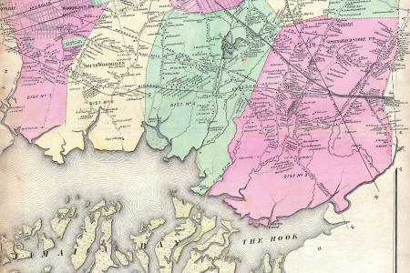 1873 s map of jamaica, queens, new york city geographicus jamaica s 1873