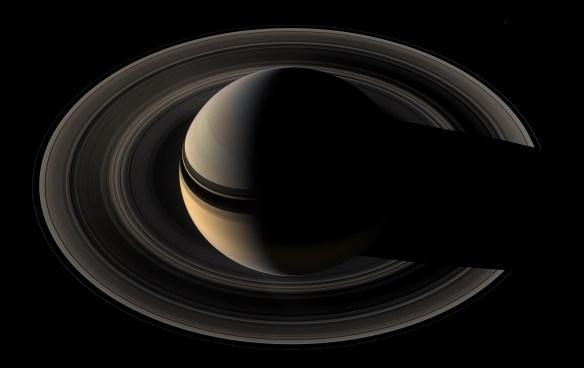 Dettaglio di Saturno scattato dalla sonda Cassini, 9 Maggio 2007
