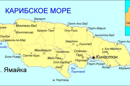 jamaica map ru