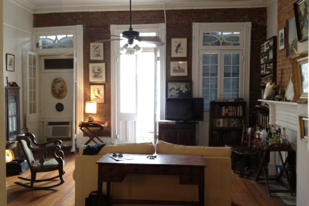 new orleans french quarter apartment living room 2