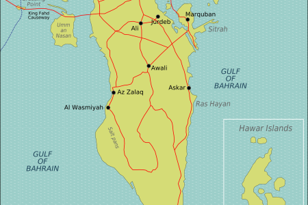 bahrain map states and cities maps